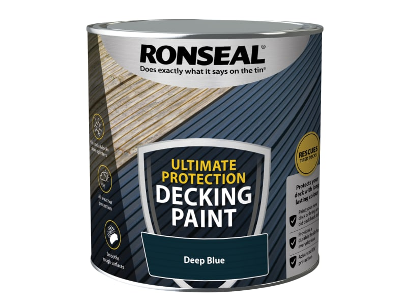 Ronseal Ultimate Protection Decking Paint Deep Blue 2.5 litre