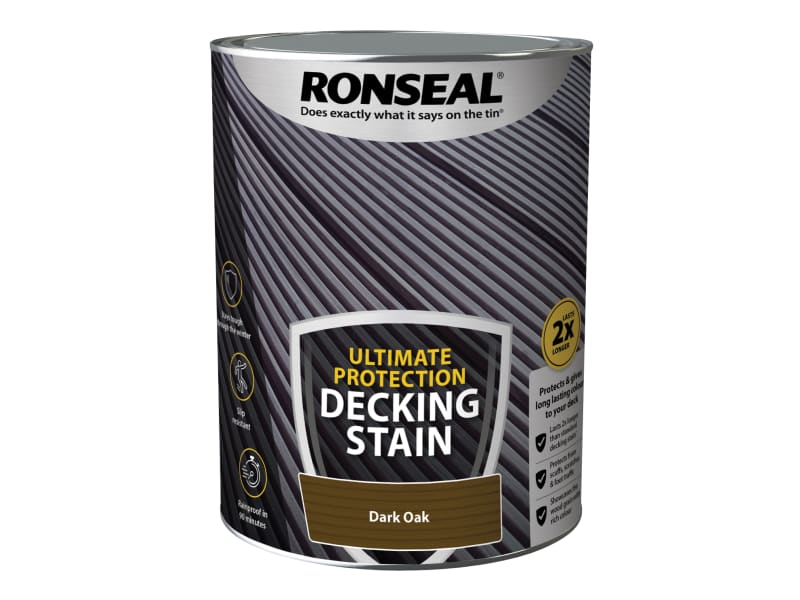 Ronseal Ultimate Protection Decking Stain Dark Oak 5 litre
