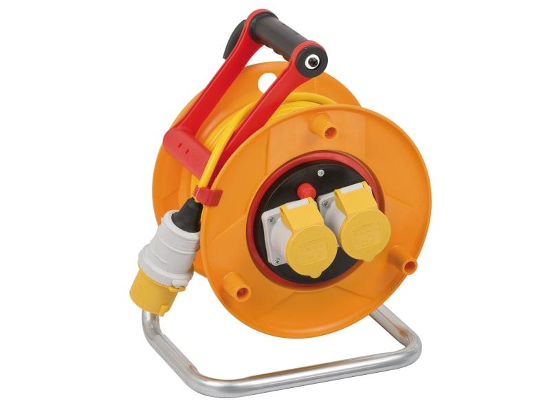 Brennenstuhl Bretec Cable Reel 110V 16A 2-Socket 25m