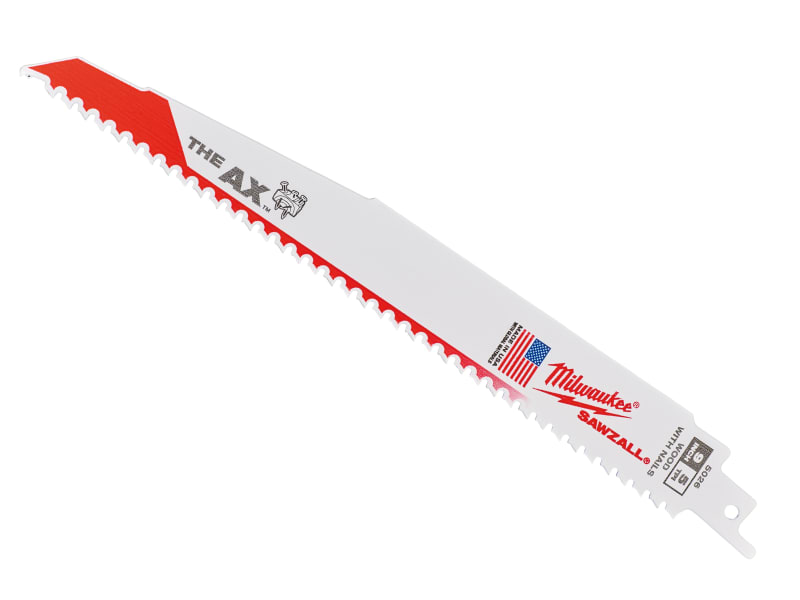 Milwaukee Power Tools SAWZALL Heavy-Duty AX Demolition Blades 230mm 5 TPI (Pack 5)
