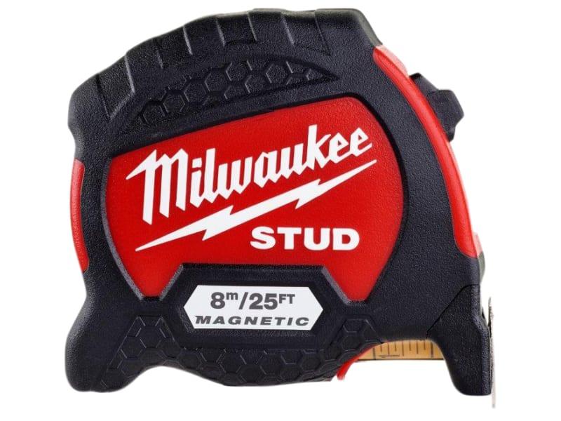Milwaukee Hand Tools STUD II Magnetic Tape Measure 8m/26ft (Width 33mm)