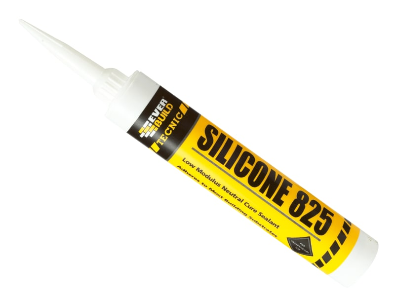 Everbuild Tecnic Silicone 825 380ml Buff