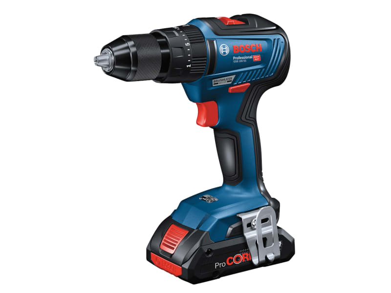 Bosch GSB 18V-55 Light Series Brushless Combi Drill 18V 2 x 2.0Ah Li-ion