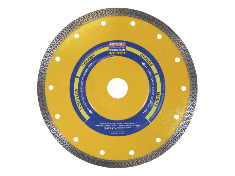 Faithfull Porcelain Diamond Blade200 x 25.4mm