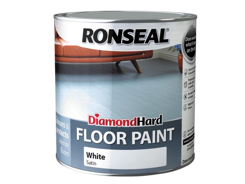 Ronseal Diamond Hard Floor Paint Satin White 2.5 litre