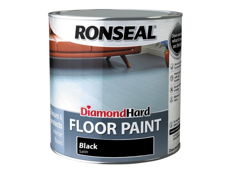 Ronseal Diamond Hard Floor Paint Satin Black 2.5 litre
