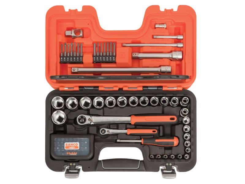 Bahco SL79 Slim Socket Set of 79 Metric 1/4in & 1/2in Drive