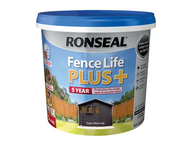 Ronseal Fence Life Plus+ Tudor Black Oak 5 Litre