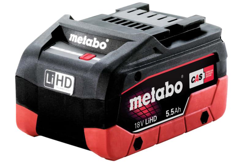 Metabo Slide Battery Pack 18V 5.5Ah LiHD