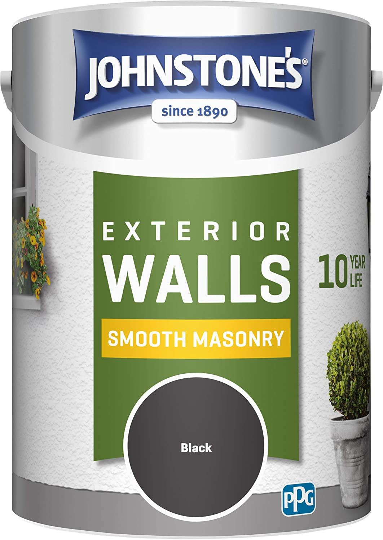 Johnstone's 5 Litre Smooth Masonry Paint - Black