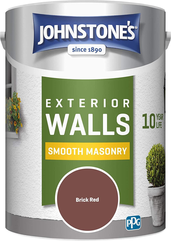 Johnstone's 5 Litre Smooth Masonry Paint - Brick Red