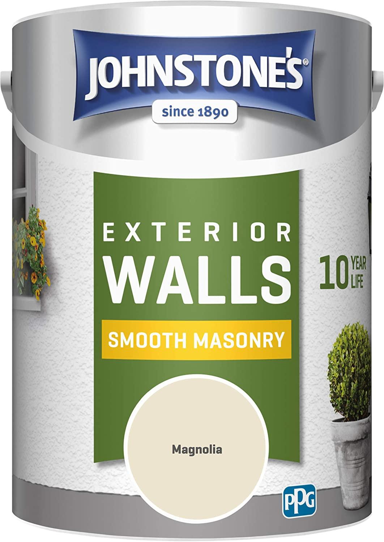 Johnstone's 5 Litre Smooth Masonry Paint - Magnolia