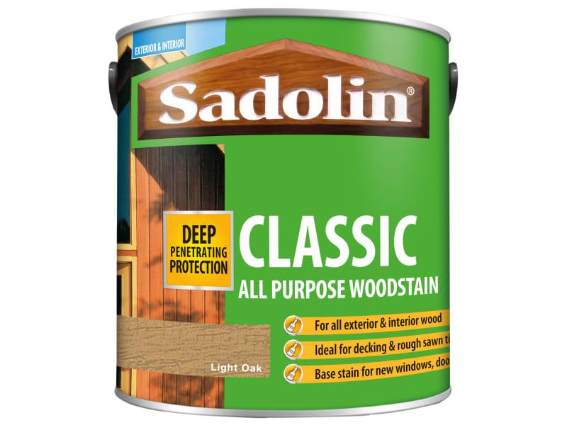 Sadolin Classic Wood Protection Light Oak 2.5 Litre