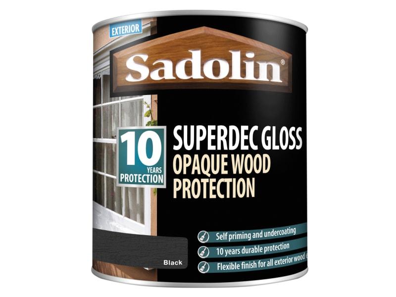 Sadolin Superdec Opaque Wood Protection Black Gloss 1 Litre