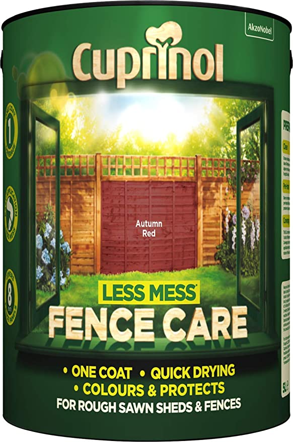 Cuprinol Less Mess Fence Care - 5l - Autumn Red