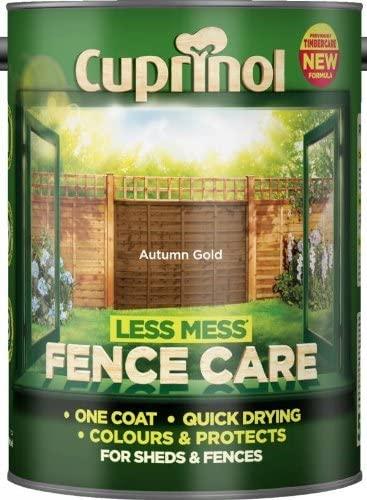 Cuprinol Less Mess Fence Care - 5l - Autumn Gold