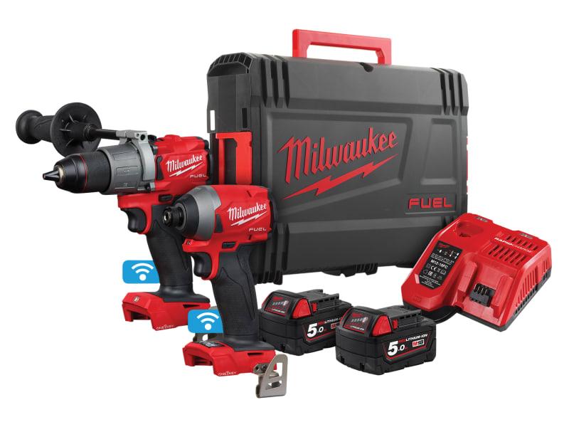 Milwaukee Power Tools M18 ONEPP2A2-502X FUEL Next Gen ONE-KEY Twin Pack 18V 2 x 5.0Ah Li-ion