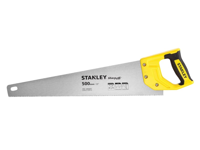 Stanley Tools Sharpcut Handsaw 500mm (20in) 7 TPI