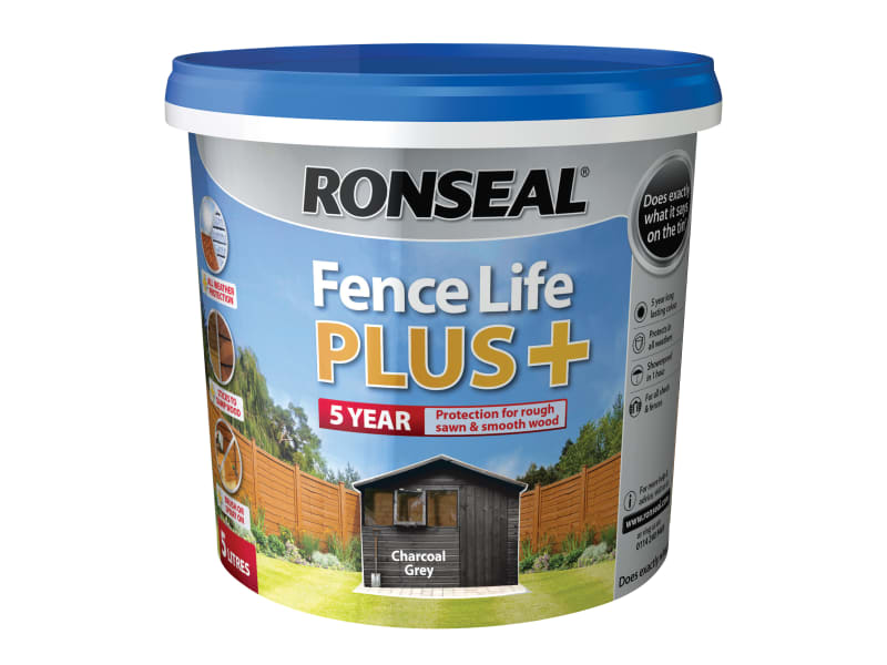 Ronseal Fence Life Plus+ Charcoal Grey 5 Litre