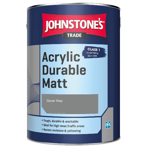 Johnstone's Trade Acrylic Durable Matt - Dover Gray - 5ltr