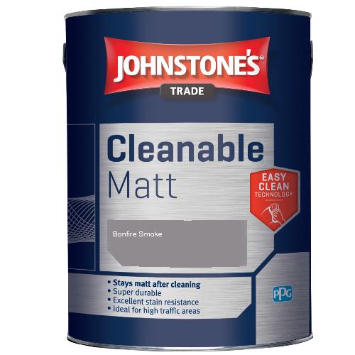 Johnstone's Trade Cleanable Matt - Bonfire Smoke - 5ltr