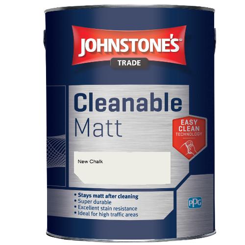 Johnstone's Trade Cleanable Matt - New Chalk - 2.5ltr