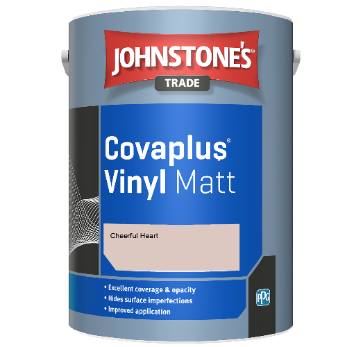 Johnstone's Trade Covaplus Vinyl Matt - Cheerful Heart - 2.5ltr