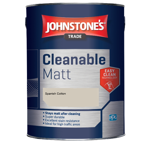 Johnstone's Trade Cleanable Matt - Spanish Cotton - 2.5ltr