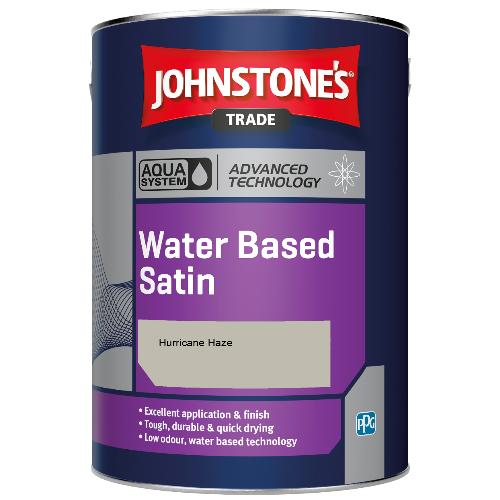 Johnstone's Aqua Water Based Satin - Hurricane Haze - 2.5ltr