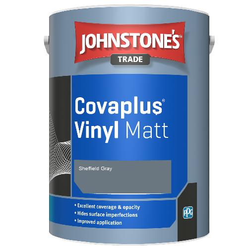 Johnstone's Trade Covaplus Vinyl Matt - Sheffield Gray - 1ltr