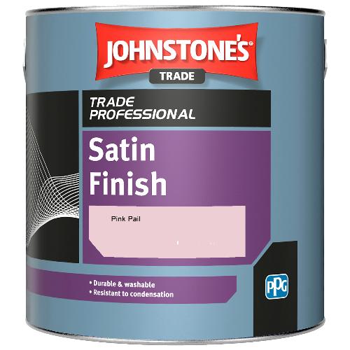 Johnstone's Satin Finish - Pink Pail - 2.5ltr