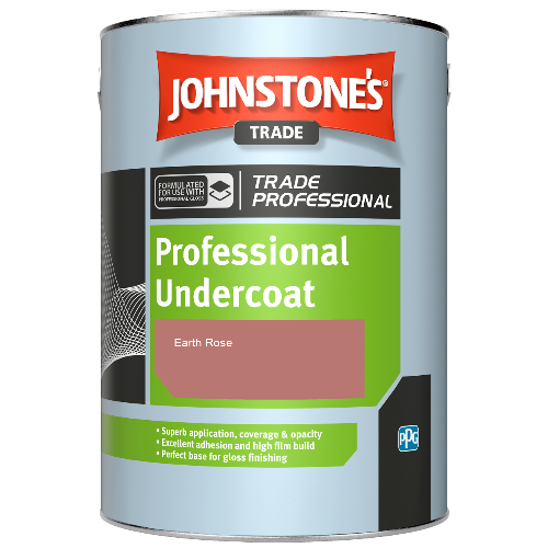 Johnstone's Professional Undercoat - Earth Rose - 1ltr