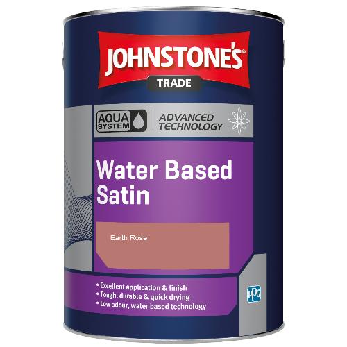 Johnstone's Aqua Water Based Satin - Earth Rose - 1ltr