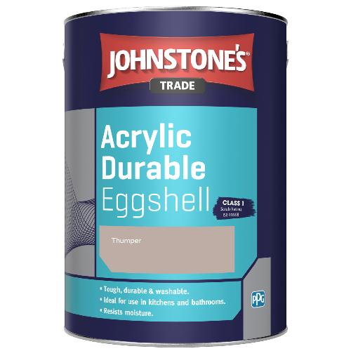Johnstone's Trade Acrylic Durable Eggshell - Thumper - 2.5ltr