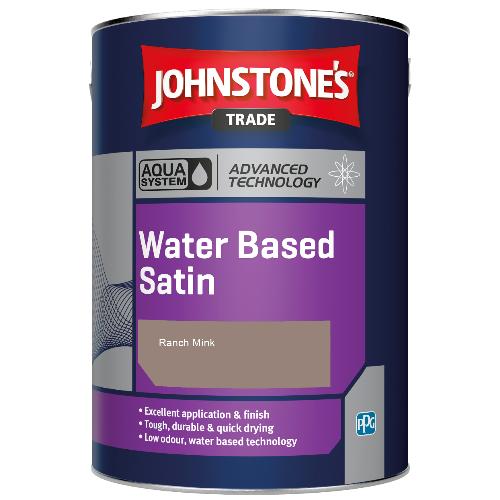 Johnstone's Aqua Water Based Satin - Ranch Mink - 1ltr