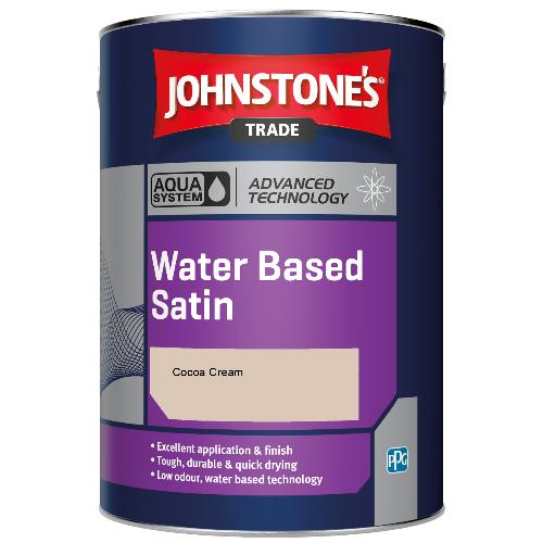 Johnstone's Aqua Water Based Satin - Cocoa Cream - 1ltr