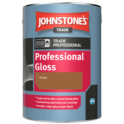 Johnstone's Professional Gloss - Ginger - 5ltr
