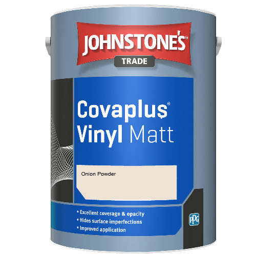Johnstone's Trade Covaplus Vinyl Matt - Onion Powder - 1ltr