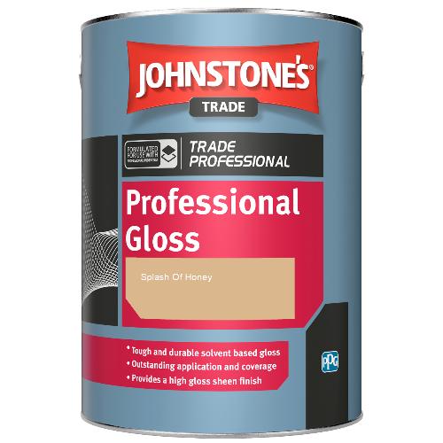 Johnstone's Professional Gloss - Splash Of Honey - 1ltr