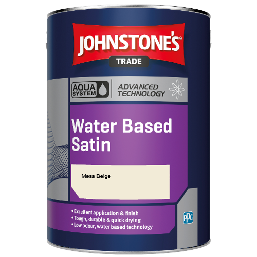 Johnstone's Aqua Water Based Satin - Mesa Beige - 2.5ltr