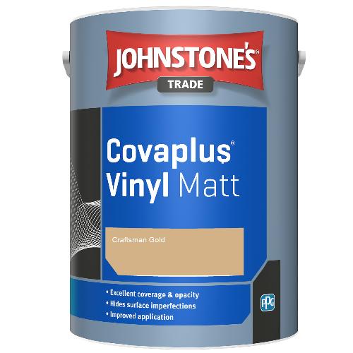 Johnstone's Trade Covaplus Vinyl Matt - Craftsman Gold - 1ltr