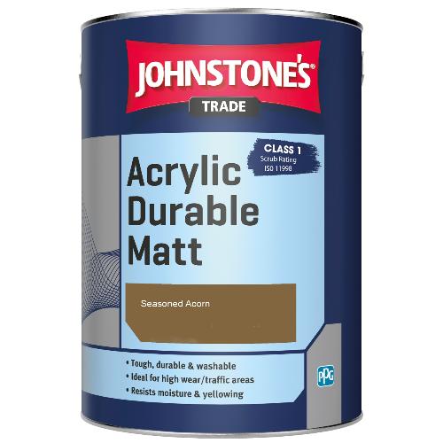 Johnstone's Trade Acrylic Durable Matt - Seasoned Acorn - 5ltr
