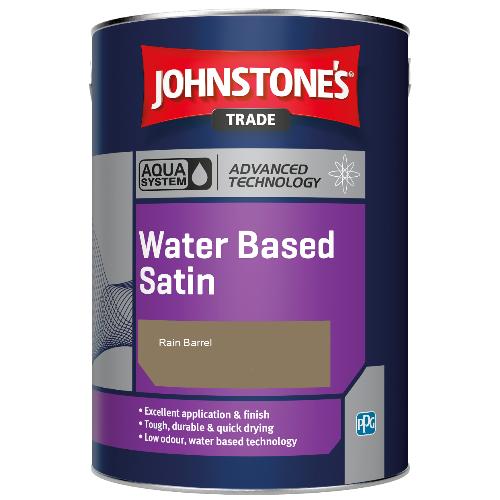Johnstone's Aqua Water Based Satin - Rain Barrel - 2.5ltr