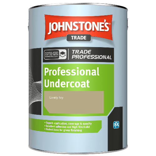 Johnstone's Professional Undercoat - Lively Ivy - 2.5ltr