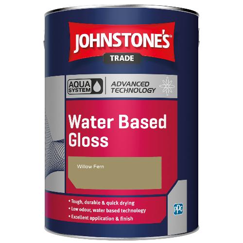 Johnstone's Aqua Water Based Gloss - Willow Fern - 1ltr