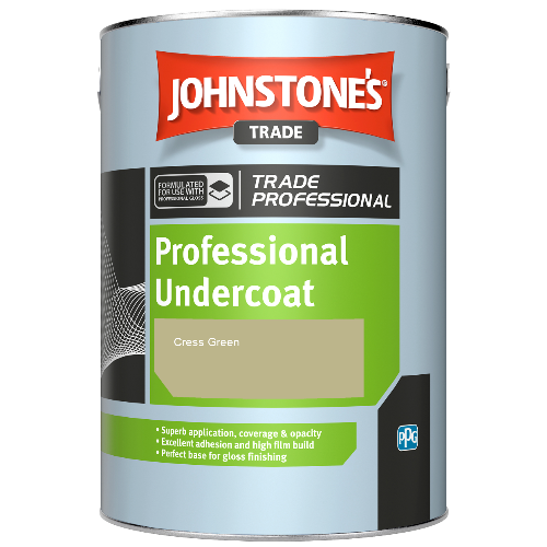 Johnstone's Professional Undercoat - Cress Green - 1ltr