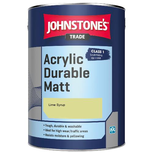 Johnstone's Trade Acrylic Durable Matt - Lime Syrup - 5ltr