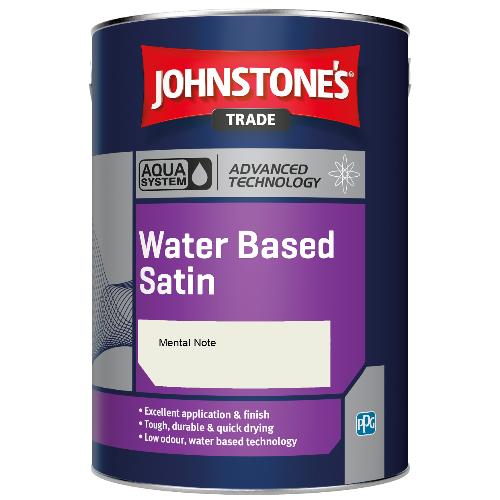 Johnstone's Aqua Water Based Satin - Mental Note - 2.5ltr