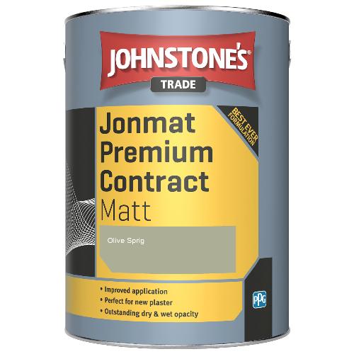 Johnstone's Trade Jonmat Premium Contract Matt - Olive Sprig - 5ltr