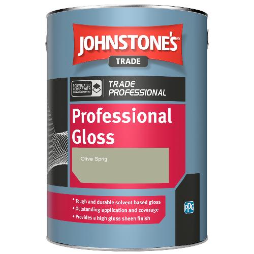 Johnstone's Professional Gloss - Olive Sprig - 1ltr